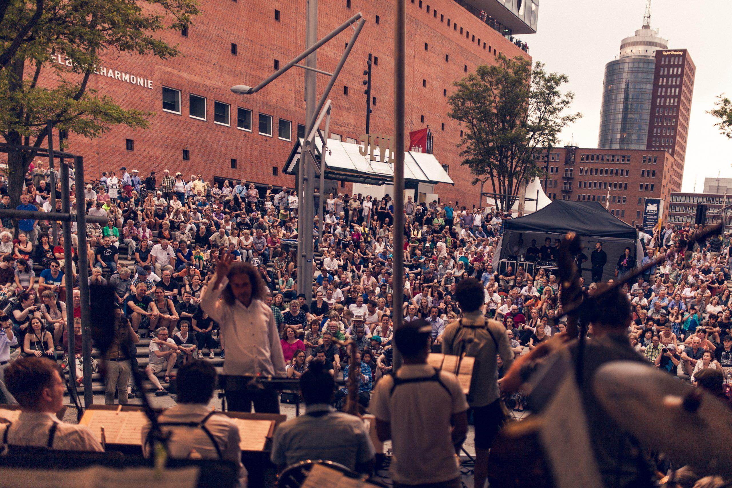 Die HFMT-Bühne bei Elbjazz / Foto: Yunus Hutterer